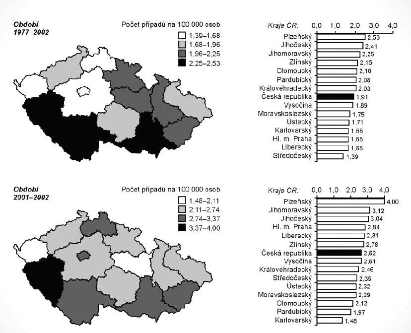 Hrubá incidence AML dle registru NOR (zdroj: ÚZIS ČR).