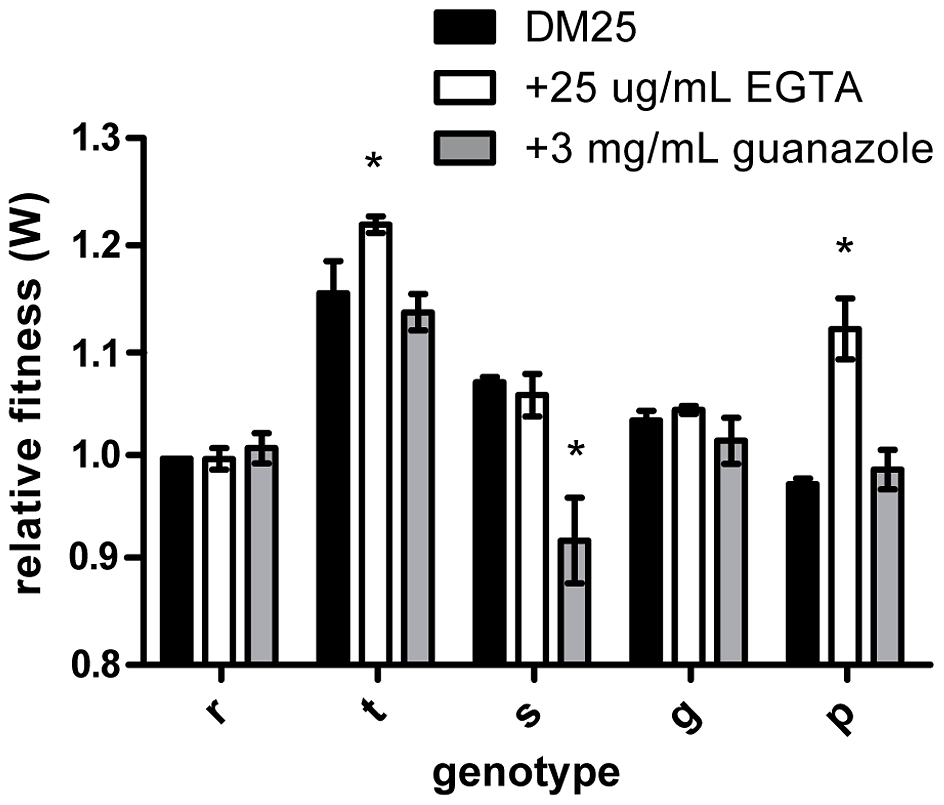 Effects of beneficial mutations in alternative environments.