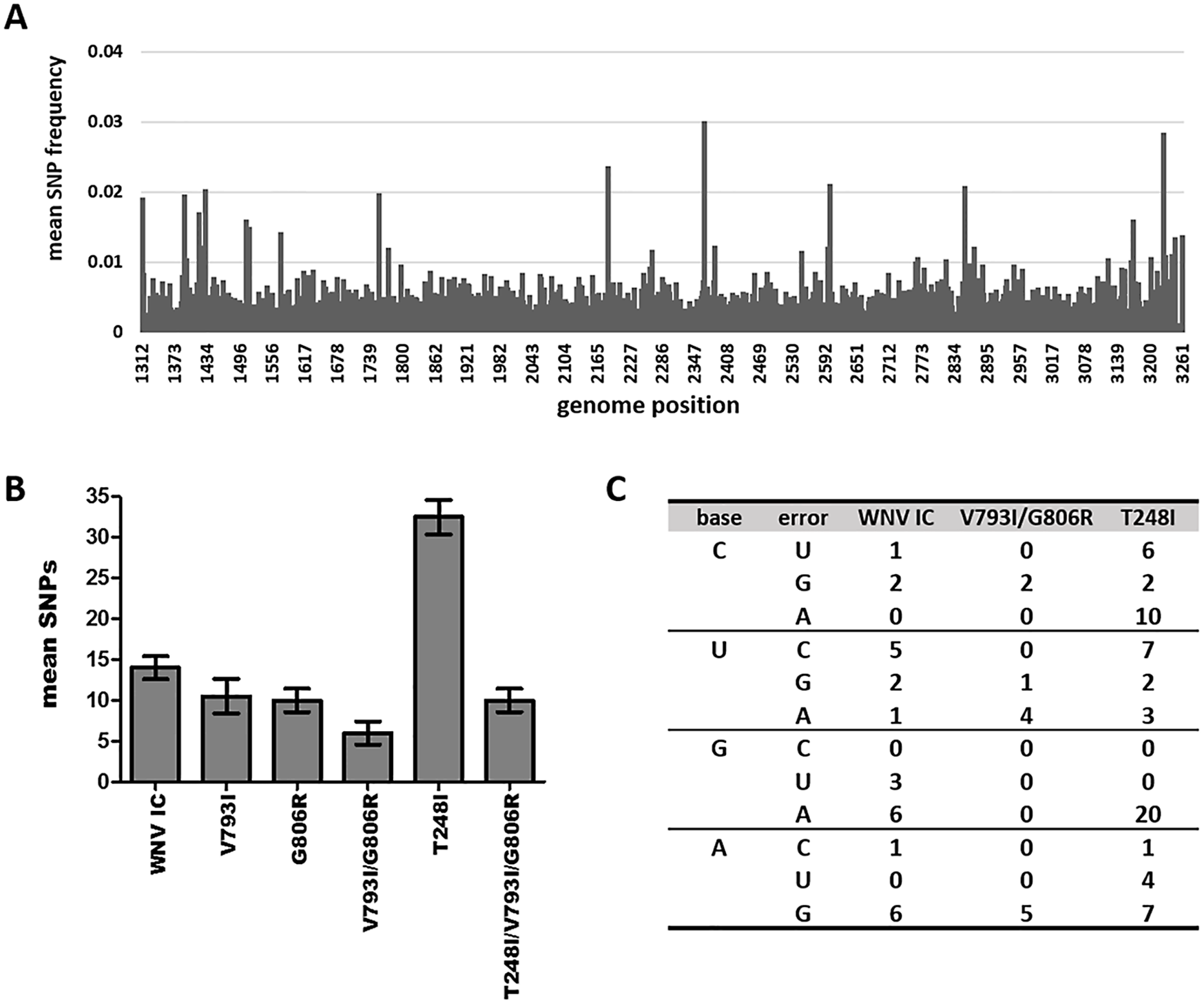 Strain-specific differences in mutational spectra breadth and composition.