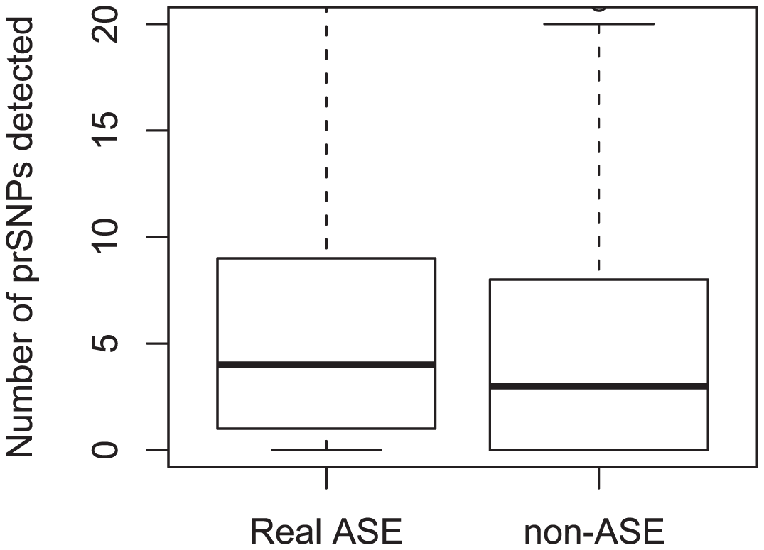prSNPs detected for rare ASE effects (real and non-ASE).