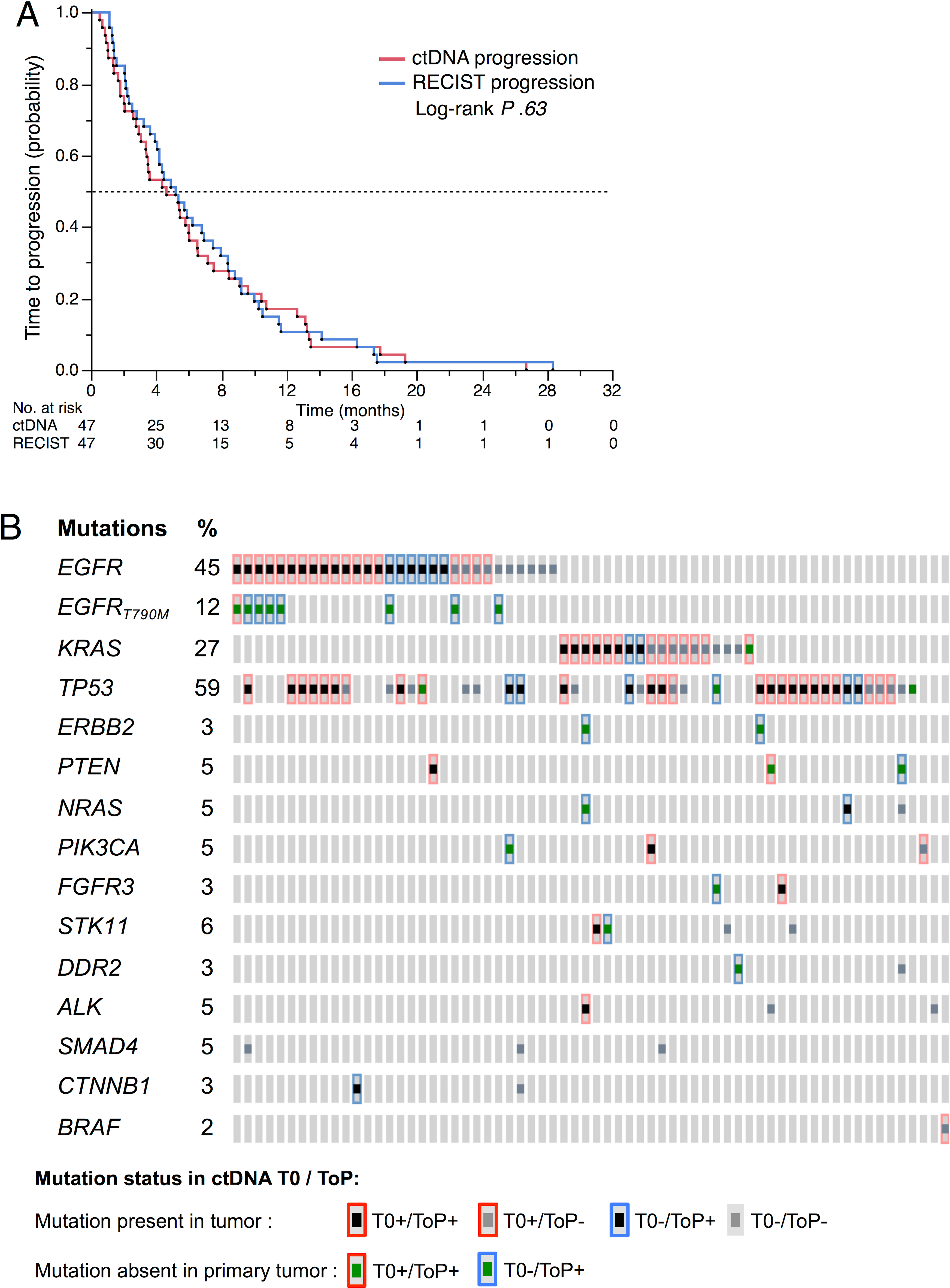 ctDNA at tumor progression.