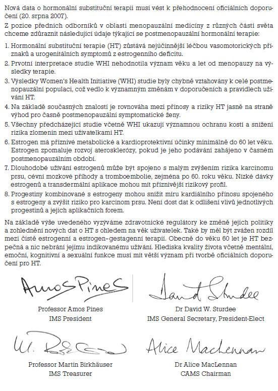 Otevřený dopis IMS pro EMEA a FDA.