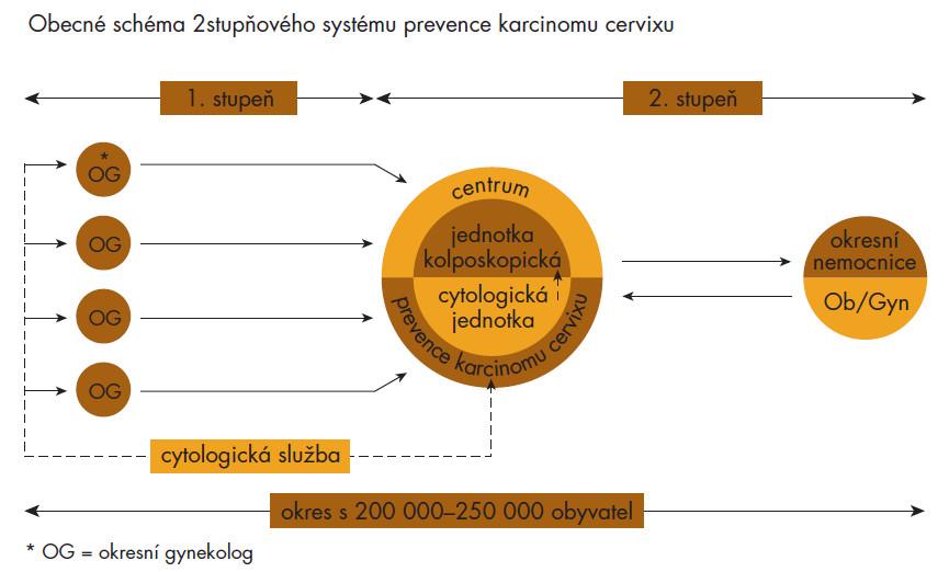 Schéma 1. Modernizace prevence carcinomu cervixu – prof. MUDr. J. Kaňka, DrSc.