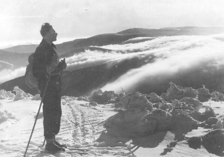 Cornelius Veits na výletě na běžkách v okolí Pradědu.