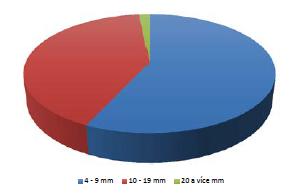 Velikost konkrementu Graph 2 Concrement size