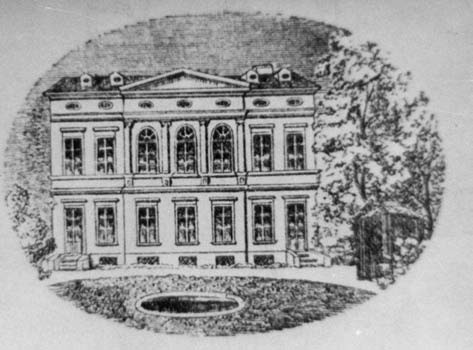 Pohled na průčelí pražského Čermákova fyziologického ústavu.
