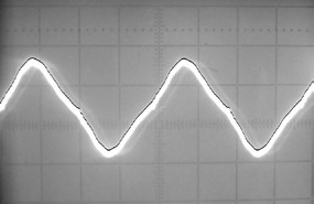 Fig. 3: Image of the signal with segmented signal curve