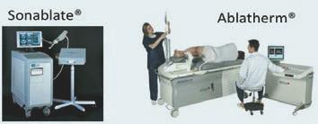 Dve komercne dostupná zarízení pro transrektální HIFU: Sonablate<sup>®</sup> a Ablatherm<sup>®</sup>.
