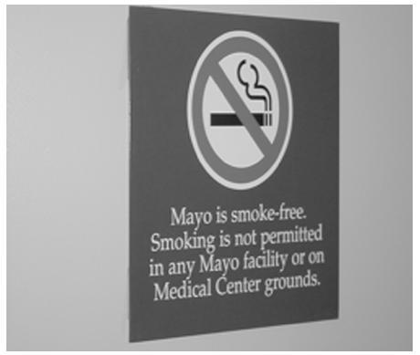 Zákaz kouření v areálu Mayo Clinic