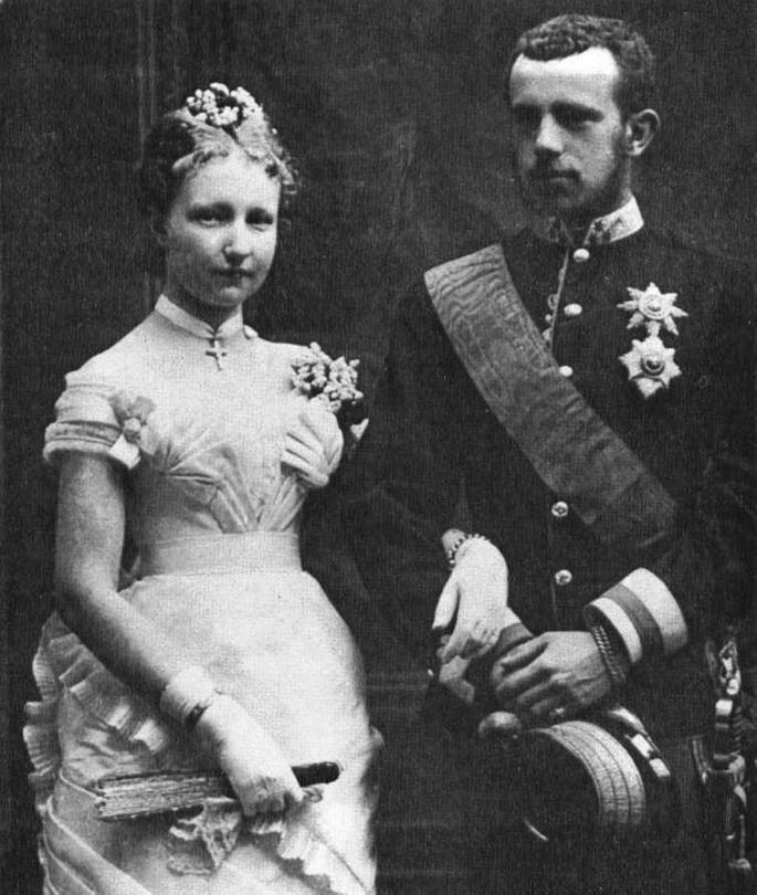 Rudolf a Stefanie jako novomanželé.