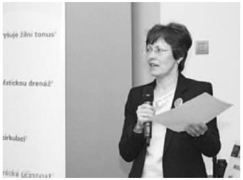 Odborná garantka doc. Dagmar Ditrichová při slavnostním zahájení konference