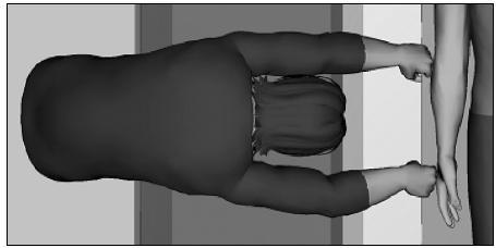 Při zvýšení ložné plochy na 87 cm pracovnice (149,86 cm) nedosáhne na rolo