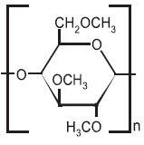 Strukturní vzorec methylcelulosy