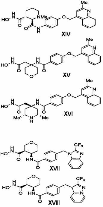 Inhibítory spoločnosti Bristol-Myers Squibb <sup>3)</sup>