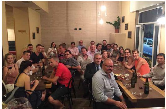 Společná večeře mladých kardiologů s předsedou ČKS na kongresu ESC.