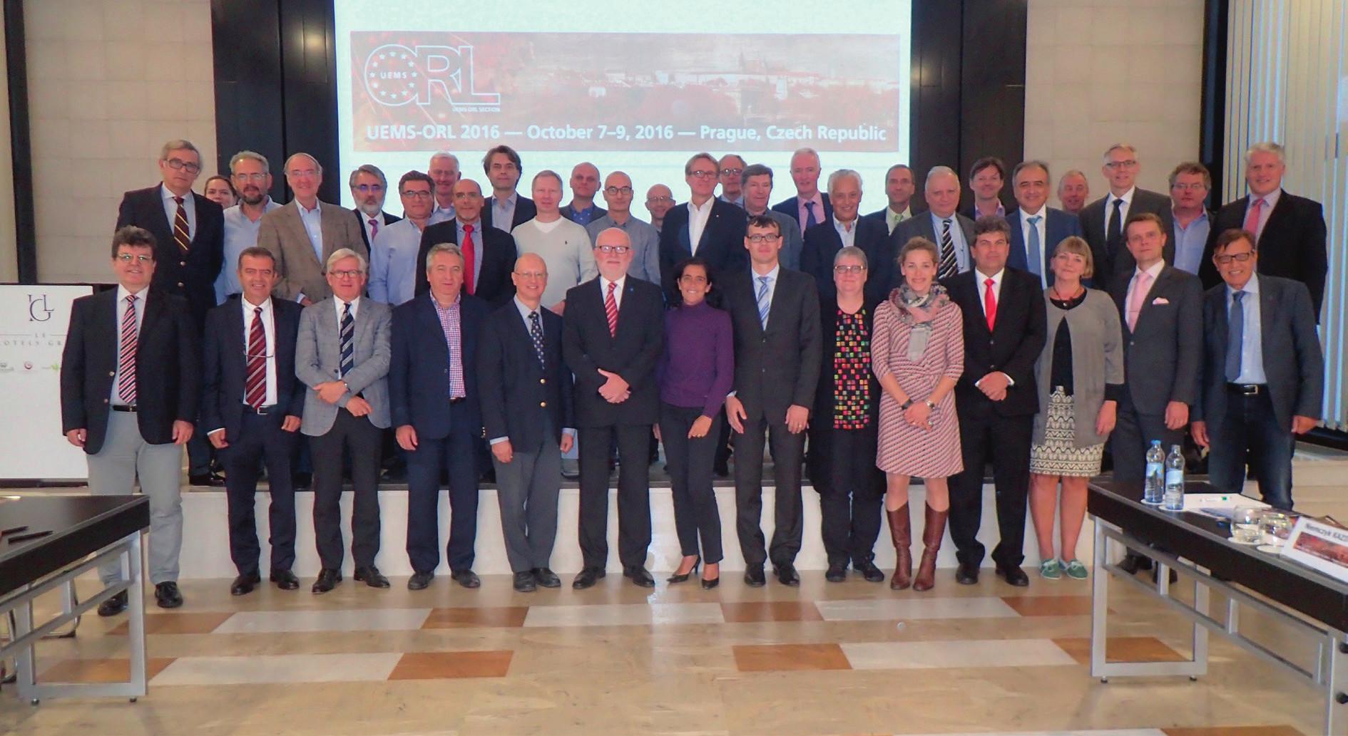 Zasedání ORL sekce UEMS.