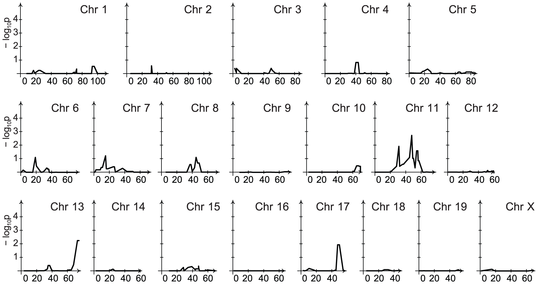 Linkage analysis of late spleen bacillary counts contingent on the chromosome 1 locus.
