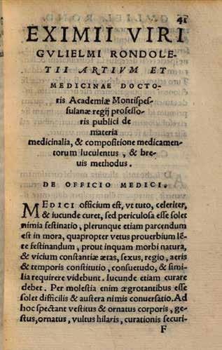 Titulná strana práce G. Rondeleta