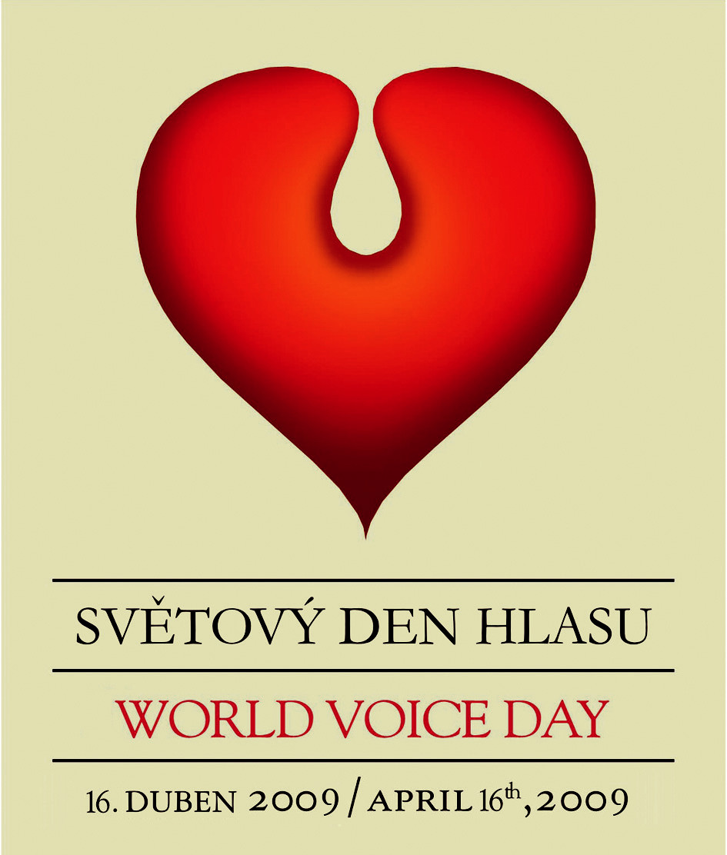 Logo Světového dne hlasu.