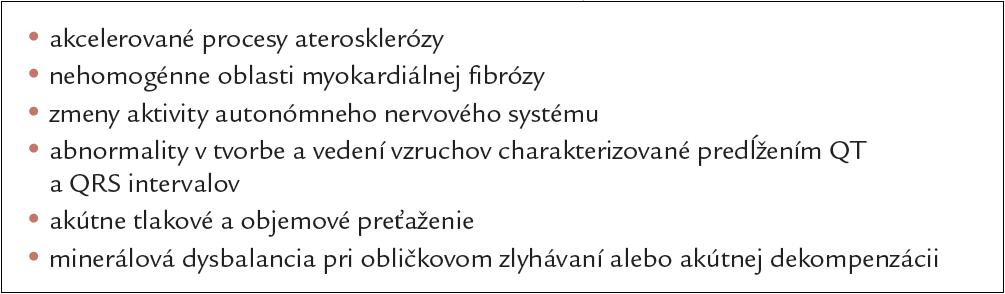 Patomorfologické predpoklady NKS u jedincov s diabetes mellitus [44].