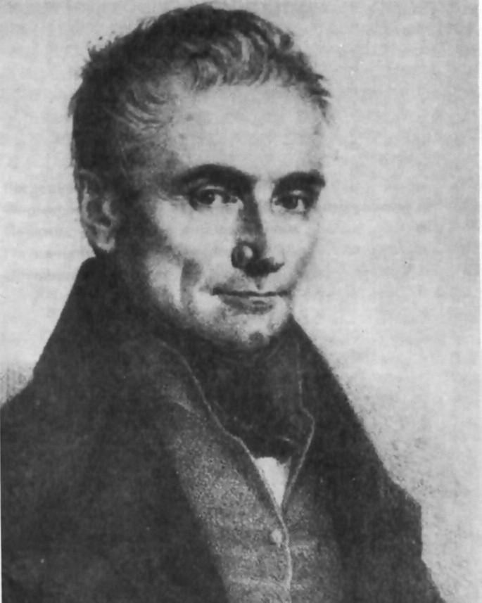 Jan Evangelista Purkyně, předloha pro litografii J. Šíra z roku 1837