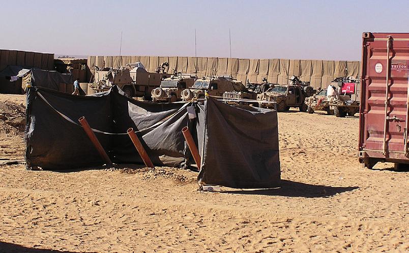 Základna vojáků v Iráku