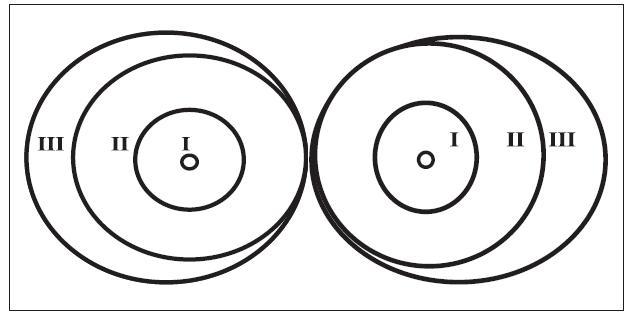 Schéma 2. Zóny sítnice