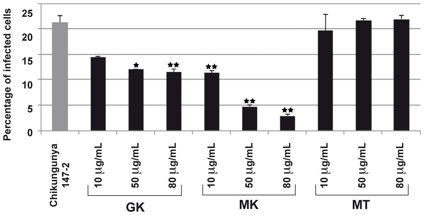 GK and MK CHIKV antiviral activity.
