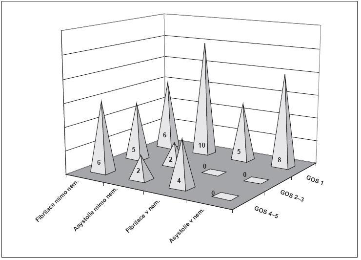 Obr. 4. Neurologický stav při propuštění z nemocnice (rok 2010)