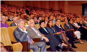 Na fotografii zleva: předseda organizačního výboru konference doc. MUDr. Bohumil Seifert, Ph.D., předseda Společnosti všeobecného lékařství ČLS JEP doc. MUDr. Svatopluk Býma, CSc. a generální ředitelka WHO Margaret Chan