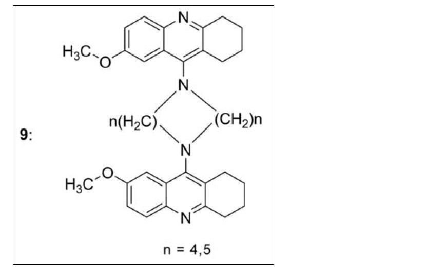 Zdvojené deriváty 7-MEOTA přemostěné dvěma alkylovými řetězci
