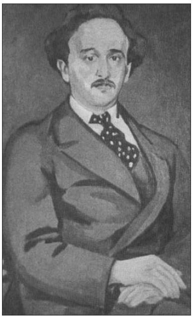 F. Langer pred 1. světovou válkou. Portrét od V. Špály.