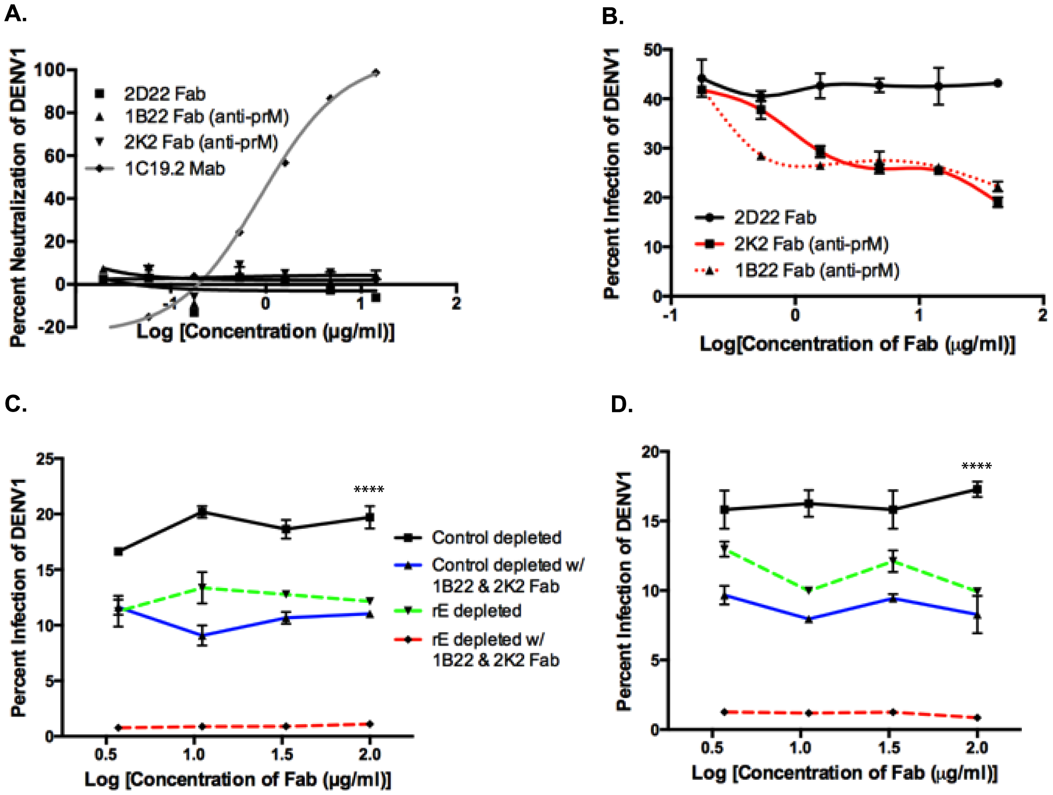 prM-specific and rE-specific cross-reactive antibodies together make up the entire population of enhancing antibodies in DENV-immune human sera.