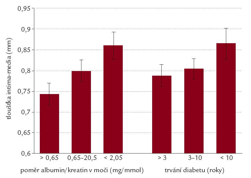 Substudie FIELD – IMT u pacientů s diabetem 2. typu.