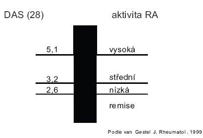 Hodnocení DAS (28) skóre.