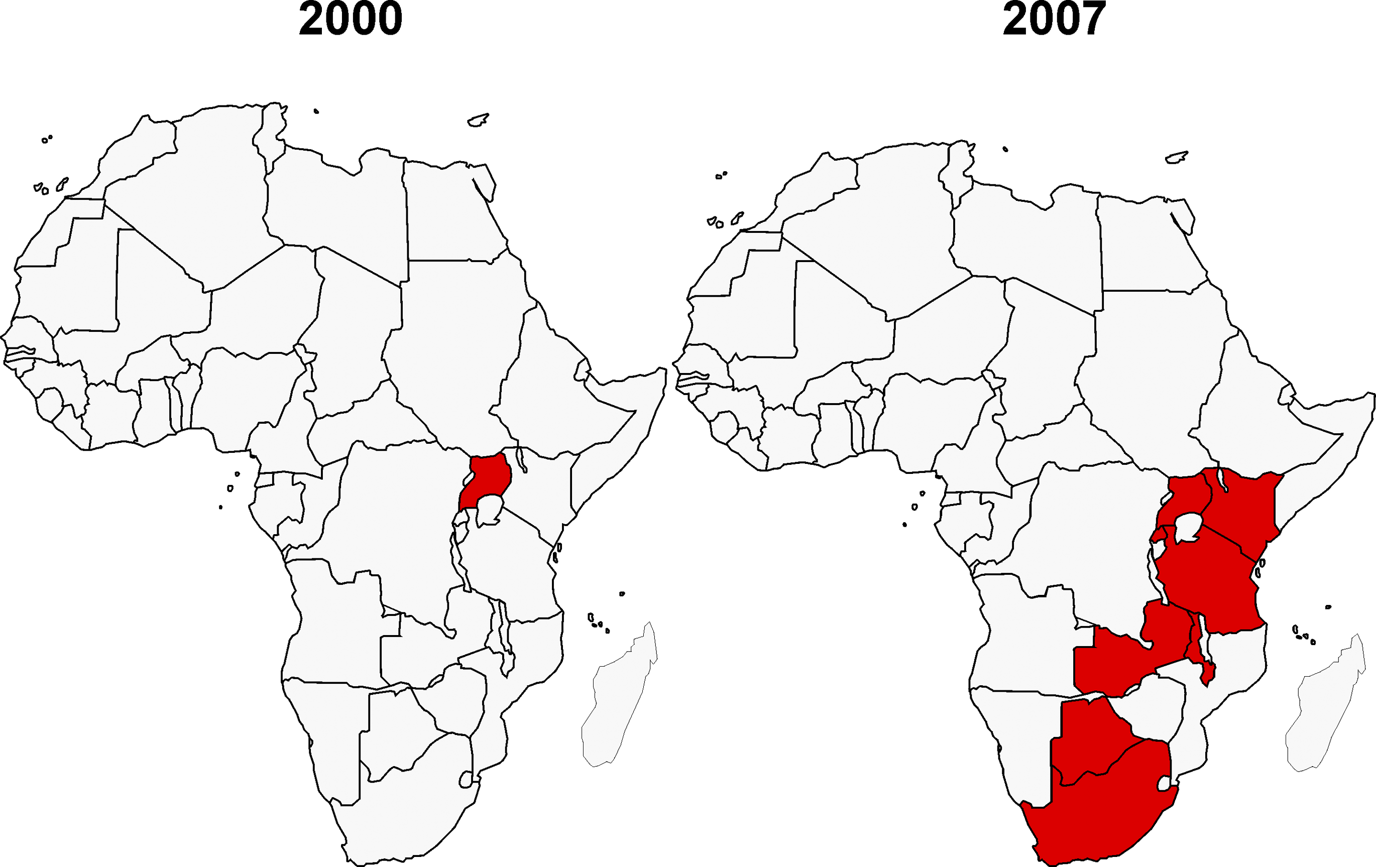 African Countries Participating in HIV Vaccine Trials