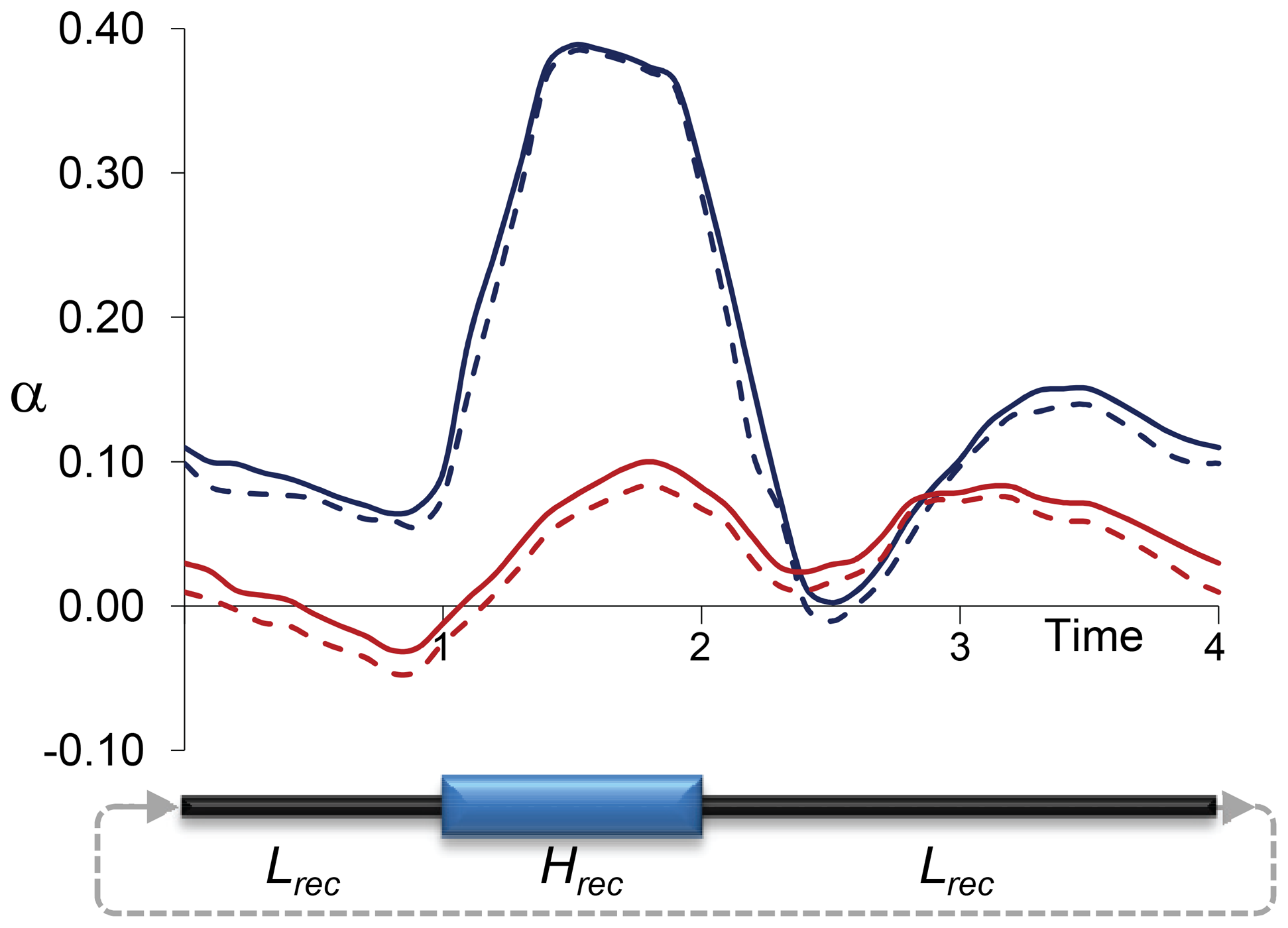 Estimates of <i>α</i> due to temporally fluctuating recombination rates and variable BGS effects.