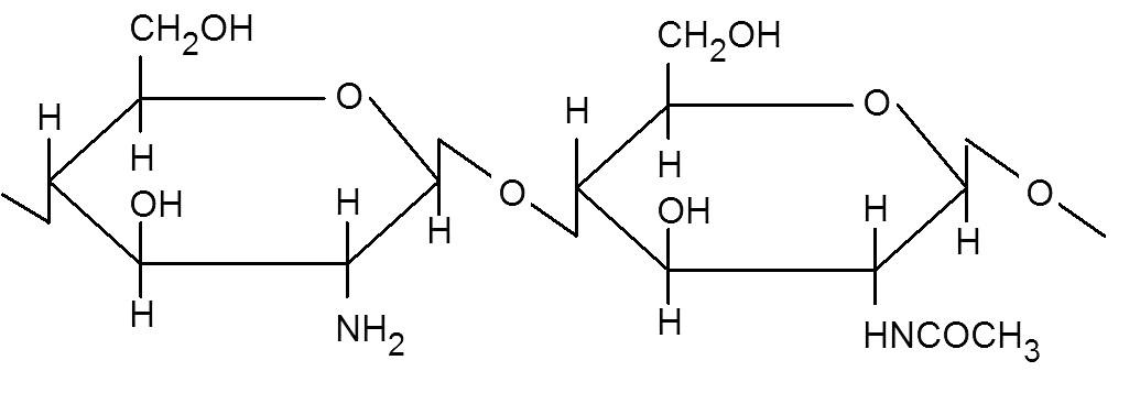 Vzorec chitosanu <sup>3)</sup>