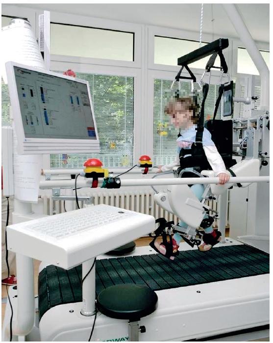 Roboticky- asistovaný lokomočný tréning v zariadení Lokomat<sup>®</sup>.