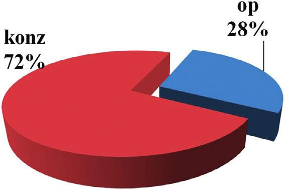 Pacienti so SAP operovaní s výkonom na pankrease (2006-2007) Graph 3. Pancreatic procedures in patients with SAPs (2006–2007)