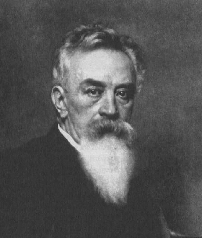 Eduard Albert. Detail portrétu od Leopolda Horowitze z roku 1892.