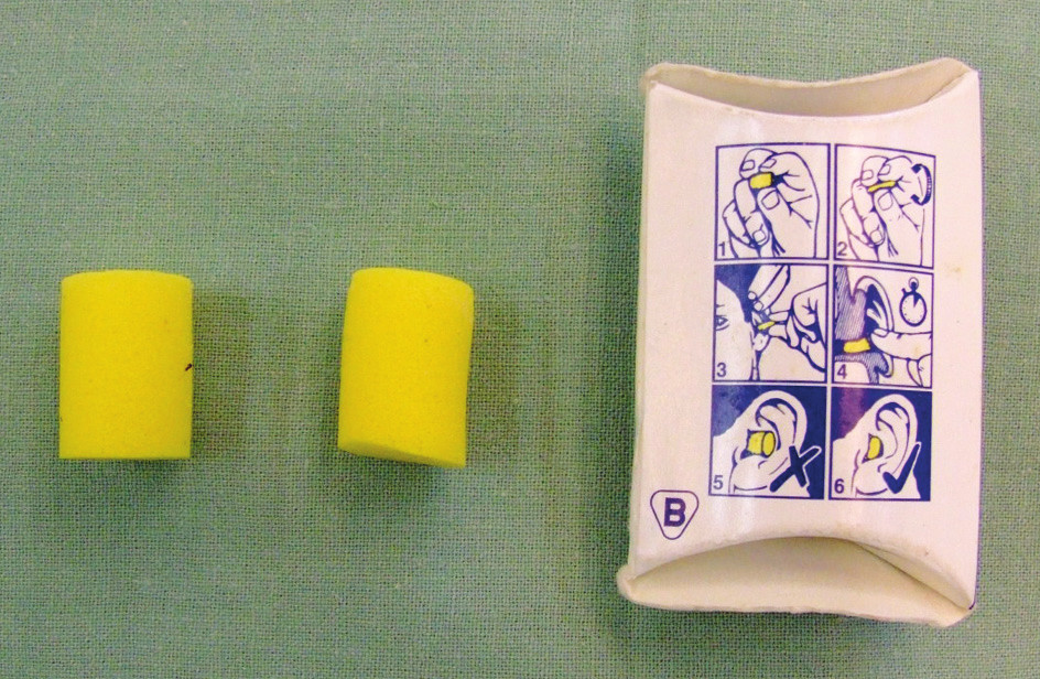 Fig. 4. Self-expanding material: a common ear plug normally used to protect hearing