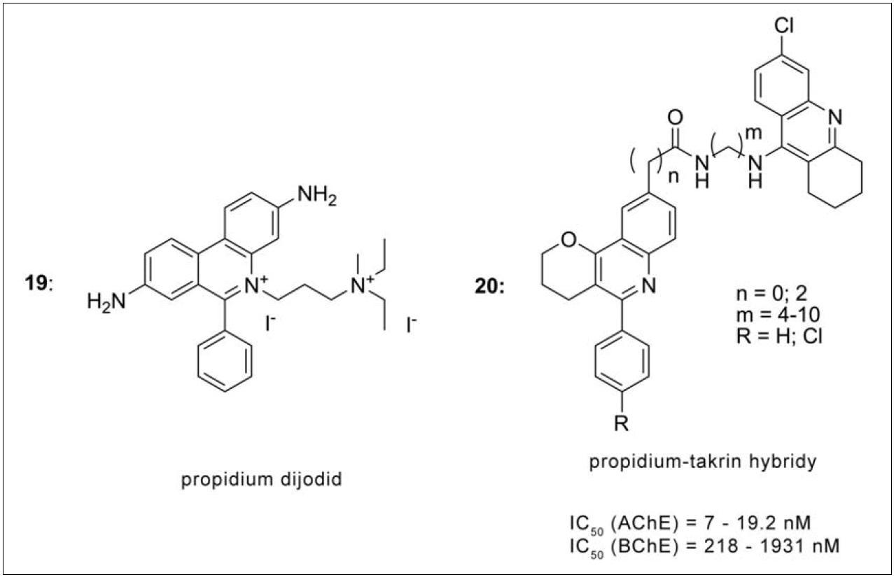 Deriváty propidia s 6-chlortakrinem