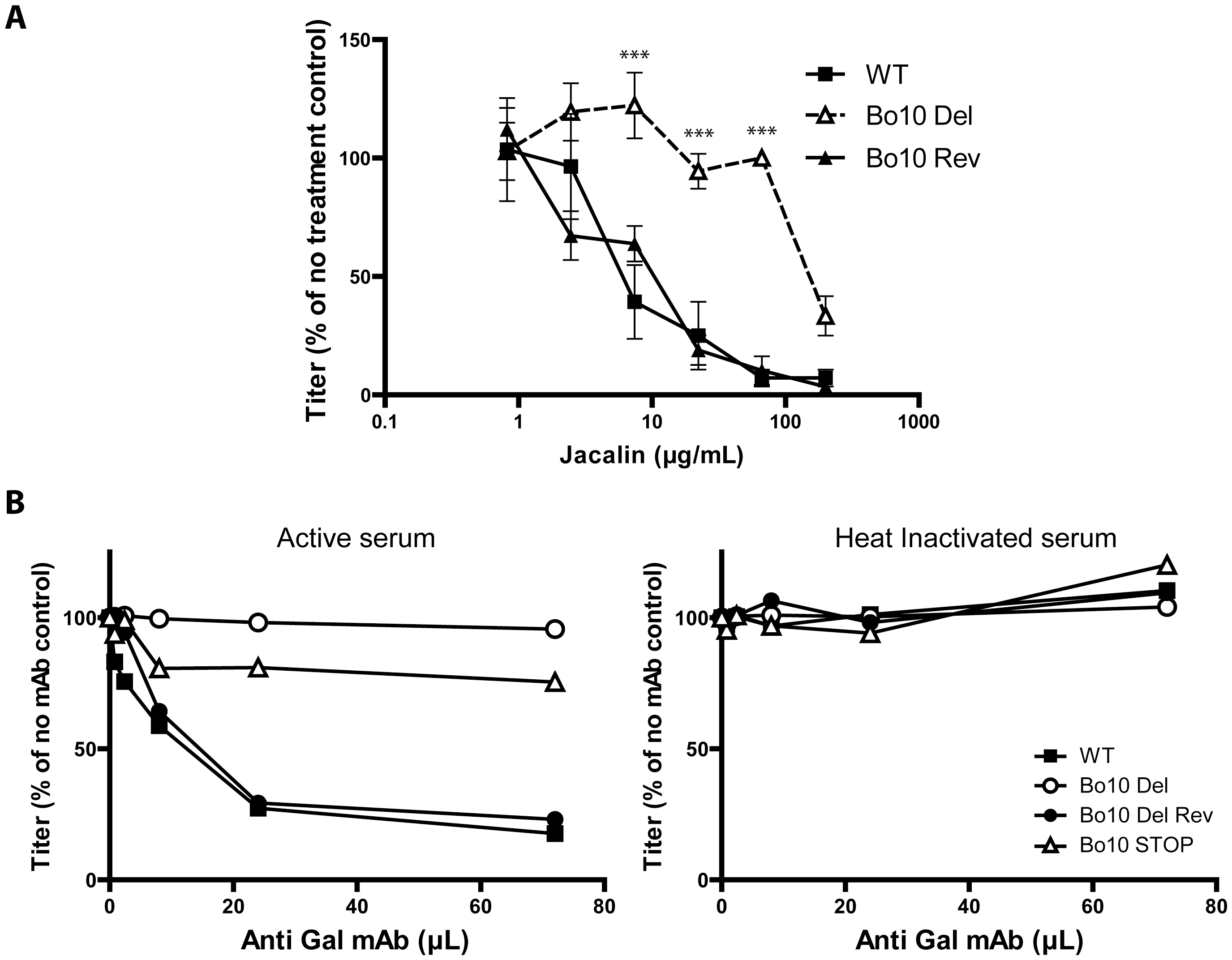Glycans on BoHV-4 gp180 allow virus neutralization.