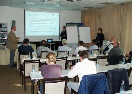 Obr. 8. Doc. MUDr. Roman Zachoval, Ph.D., MBA spolu s vedoucími workshopů MUDr. Lukášem Holubem a MUDr. Miroslavem Hodkem (Pardubice, 20. 4. 2016) Fig. 8. Associate professor Roman Zachoval, M.D., Ph.D., MBA together with workshop leaders Lukáš Holub, M.D. and Miroslav Hodek, M.D. (Pardubice, 20 April 2016)