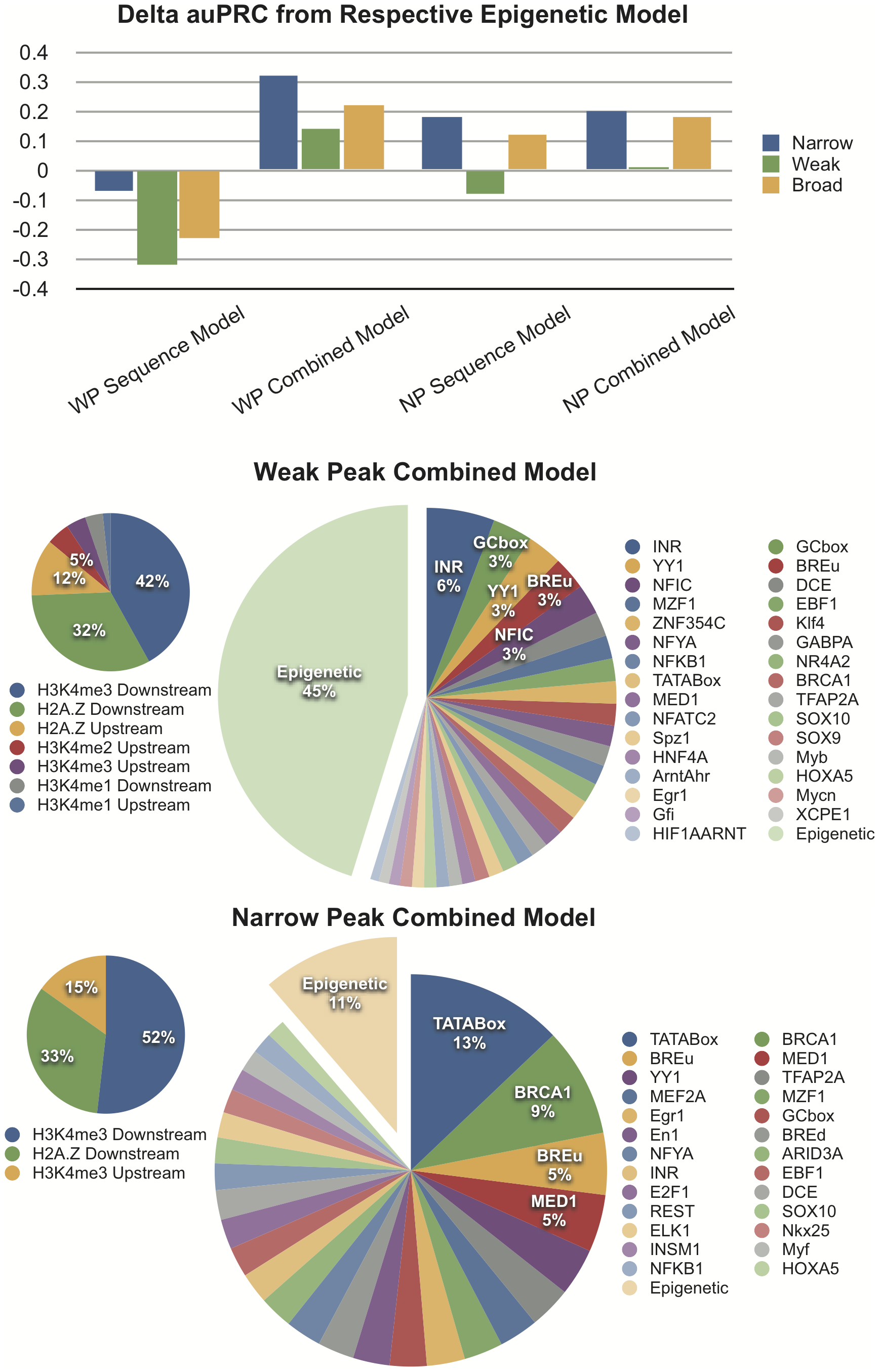 Computational Models Support the Stronger Contribution of Chromatin Features to the Definition of Dispersed TSSs.