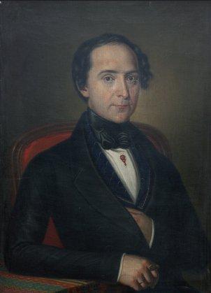 Josef Arnošt Ryba. Portrét od Václava Mánesa