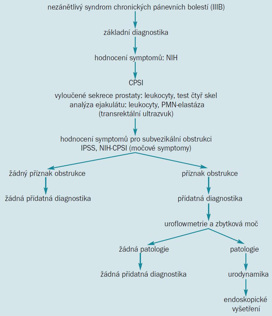 Diagnostika chronické prostatitis.