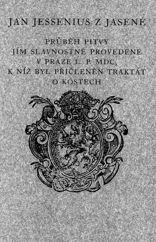 Obálka faksimile a českého překladu Jesseniovy knihy o pražské pitvě