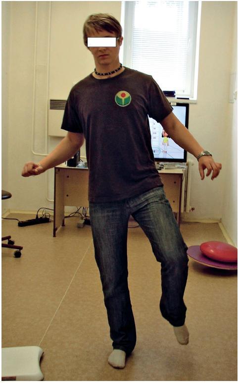 Stoj na PDK po balanční terapii.